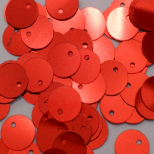 Bulk Bag 10mm Metallic Red Flat Round Red Sequins x 100g